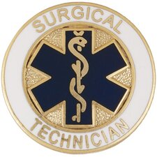 Surgical Technician Star of Life Emblem Pin