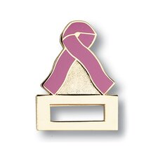 Pink Ribbon Cloisonne Badge Tac