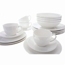 White Basics Coupe Dinnerware Collection