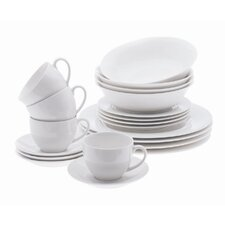 White Basics European 20 Piece Dinnerware Set