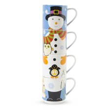 Kris Kringle 14 oz. Snowman Mug (Set of 4)