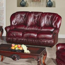 Deborah Half Leather 3 Seater Sofa