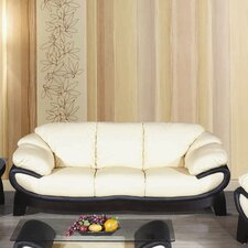 Bella Half Leather 3 Seater Sofa