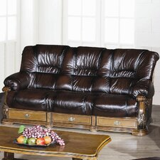 Figaro Half Leather 3 Seater Sofa