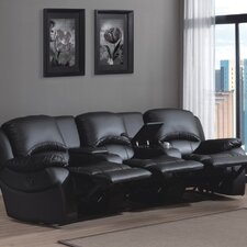 Cinema PU Leather 3 Seater Reclining Sofa