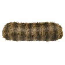 Racoon Faux Fur Neckroll Pillow