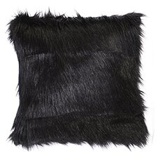Black Fox Faux Fur Euro Sham