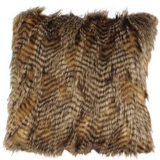 <strong>Wooded River</strong> Feathers Faux Fur Euro Sham