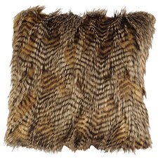 Trails End Feathers Fur Pillow