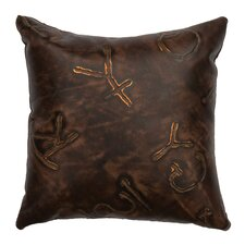 Stampede Leather Back Pillow