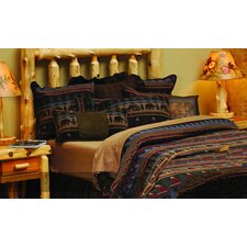 <strong>Wooded River</strong> Cabin Bear Deluxe 7 Piece Bedding Set
