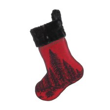 Wooded River Bear Christmas Stocking