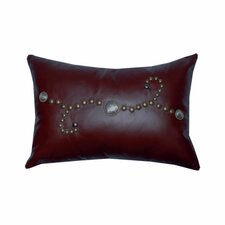 Accessory Pillows Leather with Decorative Conchos and Studs Pillow