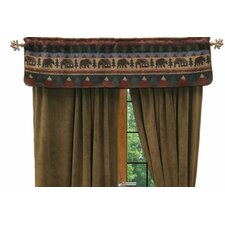 Cabin Bear Curtain Valance