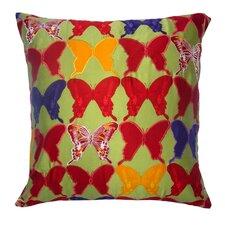 Flower Power Butterfly Silk Pillow