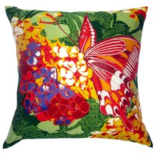 Flower Power Lantana Silk Pillow