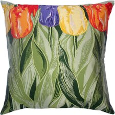 Flower Power Tulip Silk Pillow