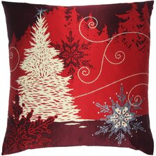Holiday Elegance Winterscape Silk Pillow