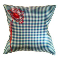 Prep Check Floral Microfiber Pillow