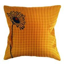 Prep Check Floral Microfiber Pillow