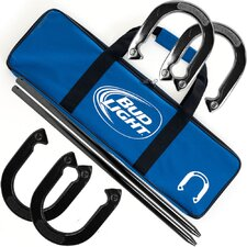 Bud Light Horseshoe with Carry Case Set