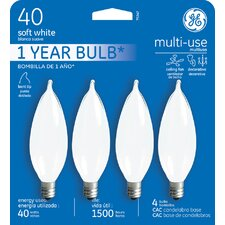 <strong>GE</strong> 40W Candelabra Incandescent Light Bulb