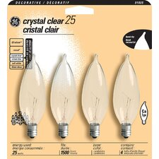 <strong>GE</strong> Decorative Bent Tip Chandelier Light Bulb (Pack of 4)