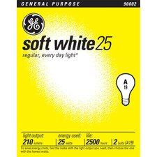 <strong>GE</strong> 25W Standard Incandescent Light Bulb (Pack of 2)