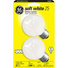 <strong>GE</strong> Vanity Globe Light Bulb (Pack of 2)