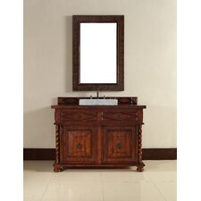 "Continental 48"" Single Vanity Set with Wood Top"