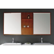 Contempo Double Mirror with Shelves