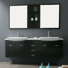 "Contempo 71"" Wall Mounted Double Vanity Set"