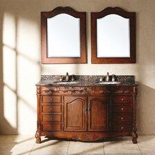 """Classico 60"""" Double Granite Vanity Set"""