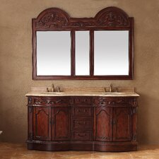 "Classico 72"" Double Travertine Vanity Set"
