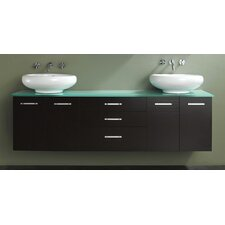 "Contempo 58"" Wall Mounted Double Vanity Set"