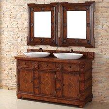 "Charleston 60"" Double Vanity Set with Wood Top"