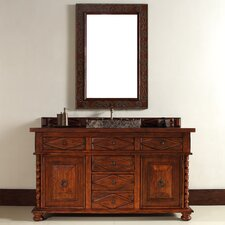 "Continental 60"" Single Vanity Set with Wood Top"