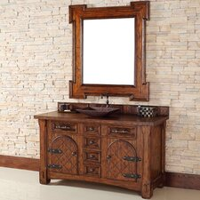 "Marrakesh 60"" Single Vanity Set with Wood Top"