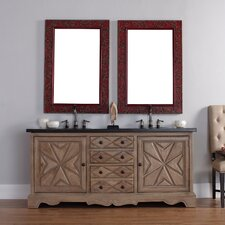 "Normandy 72"" Double Vanity Set with Stone Top"