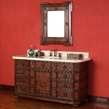 "Regent 60"" Single Vanity Set with Stone Top"