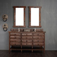 """Tacoma 60"""" Double Vanity Set with Wood Top"""