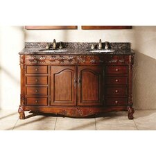 "<strong>James Martin Furniture</strong> Tanya 60"" Double Bathroom Vanity Set"