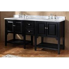 "<strong>James Martin Furniture</strong> Mesaana 72"" Double Bathroom Vanity Set"