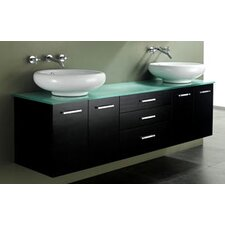 "<strong>James Martin Furniture</strong> Berdine 72"" Double Sink Vanity Set"