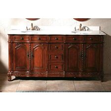 "Merryton 72"" Double Bathroom Vanity Set"