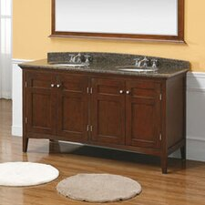 "Vivian 59"" Double Bathroom Vanity Base"