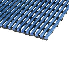 World's Best Barefoot Mat 2' x 6' Safety and Comfort Mat in Light Blue