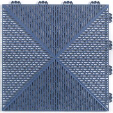 "<strong>Mats Inc.</strong> Quick Click Polypropylene 14.88"" x 14.88"" Interlocking Deck Tiles in Blue"