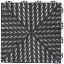 "<strong>Mats Inc.</strong> Quick Click Polypropylene 14.88"" x 14.88"" Interlocking Deck Tiles in Graphite"