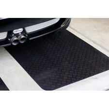 Autoguard  XL 3' x 15' Rubber Garage Protection Mat in Black
